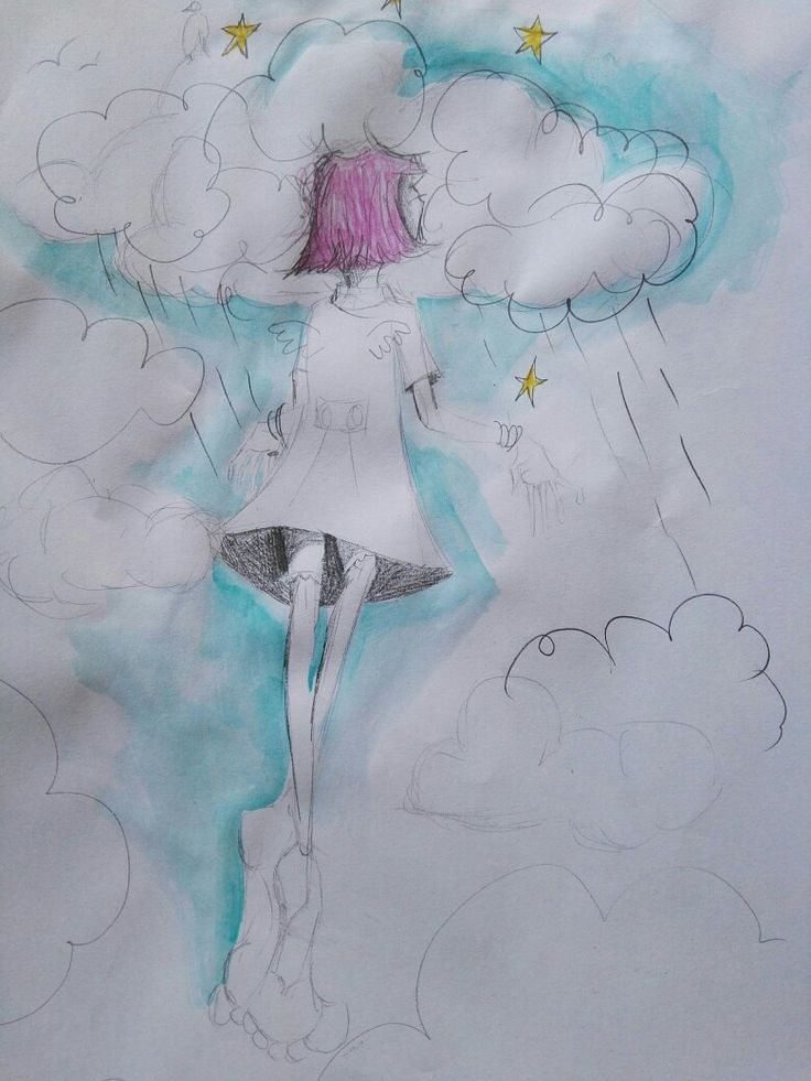 Marisa du Toit illustration Head in the clouds