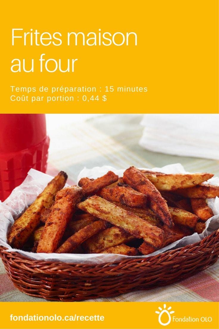 Frite de patate douce au four, à cuire à la maison: plus nutritives et économiques! Une savoureuse façon d'ajouter des légumes au menu! --- Recette facile, Recette économique, Recette rapide, Recette nutritive --- #Frite