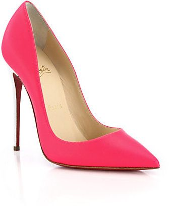 Christian Louboutin So Kate Bicolor Fluorescent Leather Pumps on shopstyle.com