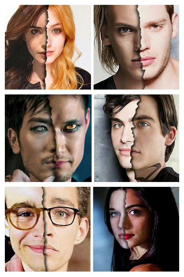 i like movie clary, jace and simon, and  tv-show magnus and alec. A mix between Jemima (movie) and Emeraude (tv-show) would make the perfect Isabelle.