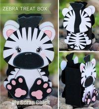 Zebra Treat Box with Backside