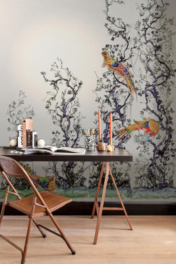 Timorous Beasties : A Bird in the Bush- Tektura Wallcoverings