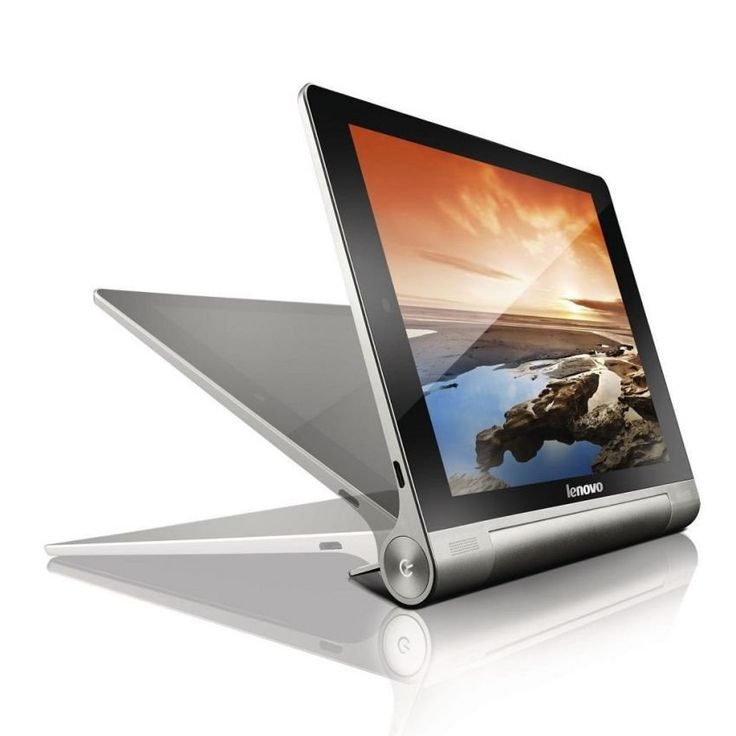Tab Yoga B8000 by Lenovo. Battery lasts up to 18 hours, features multiple usage modes: Hold, Tilt, and Stand. In hold mode, the weight of the device falls into your palm rather than your fingers, making it more comfortable, HD (1280 x 800) display delivers stunning high definition visuals.  http://www.zocko.com/z/JKQ48