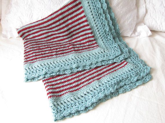 how to put trim around baby blanket