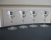 American Airlines Admirals Club Set of 4 Cocktail Bar Glasses aa eagle airlines