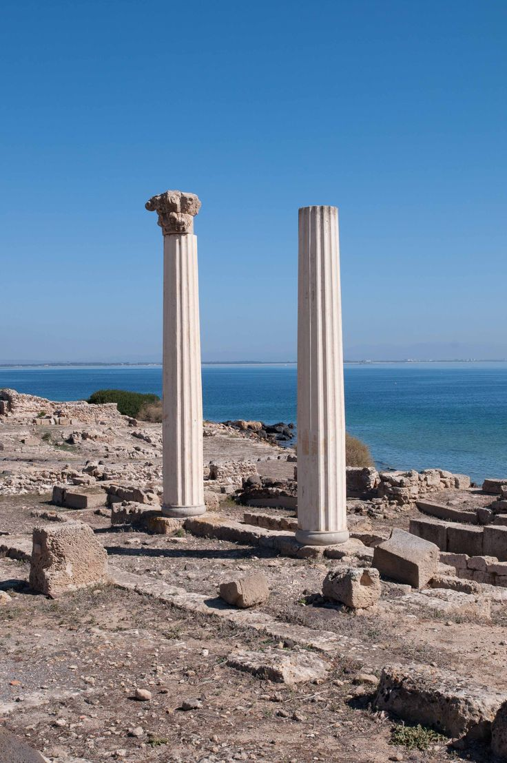 Roman ruins in Oristano Sardinia
