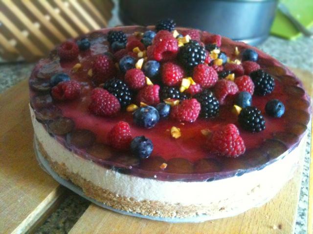 Zdravé Torty: Nepečená tvarohová torta
