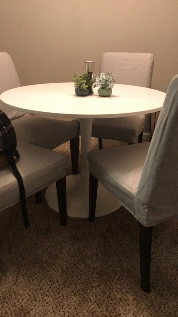 Living Room Table Sets Ikea Fresh Used Round Ikea Dining Table With Customizable Chairs For Sale In Ruang Tamu Ikea Meja Ruang Tamu Kursi Ruang Keluarga