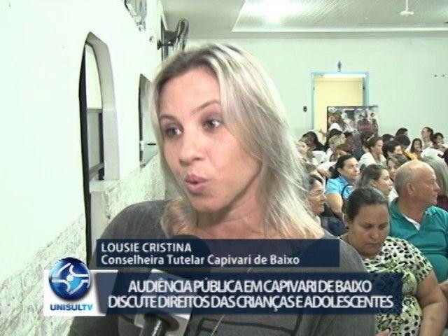 Capivari de Baixo: audiência pública discute direitos das crianças e adolescentes