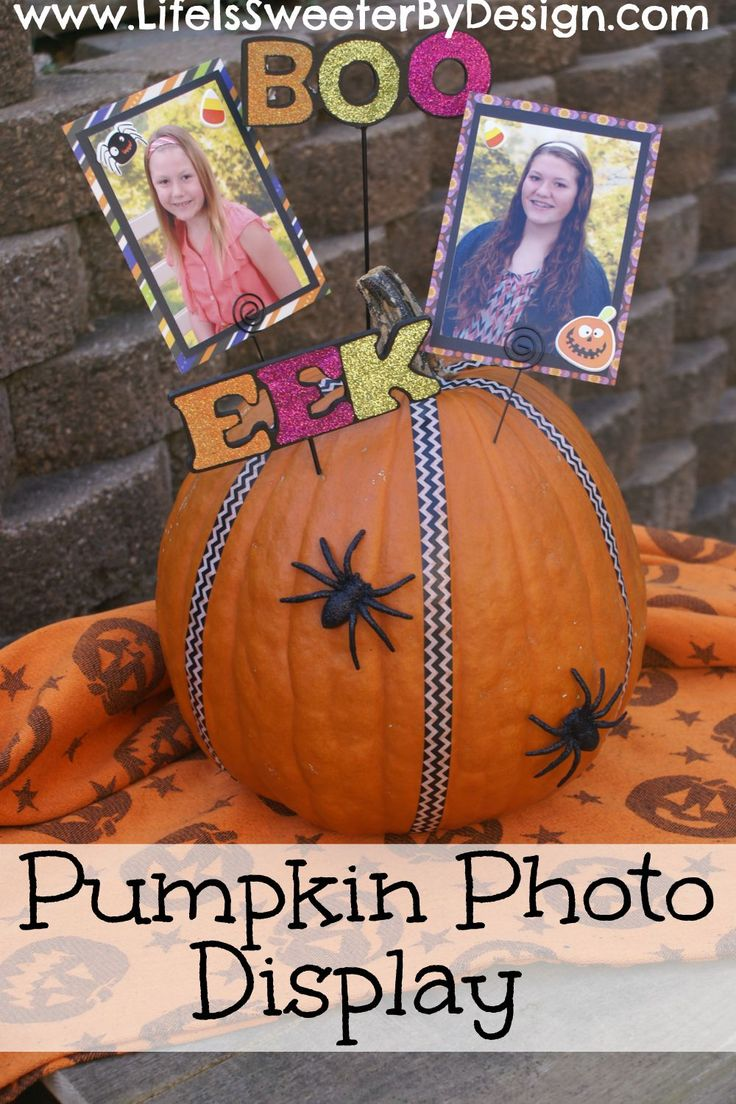 Easy DIY project for Halloween or Fall! Add some washi tape, great photographs and embellishments for a cute way to display your pictures! #ad