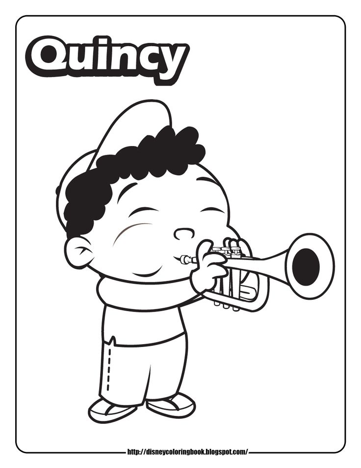 little einsteins quincy coloring page