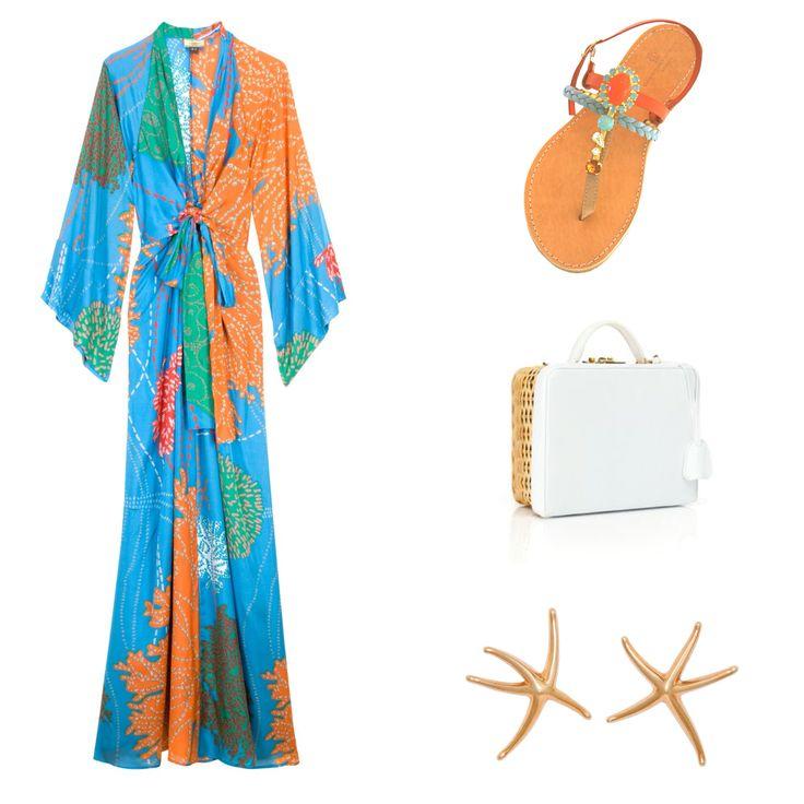"Christina Fragista ""Thirasia Orange"" Sandals"