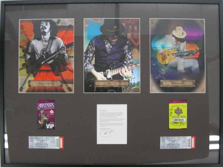Santana Memorabilia | Examples | Custom Framing | Pictures Frames and More