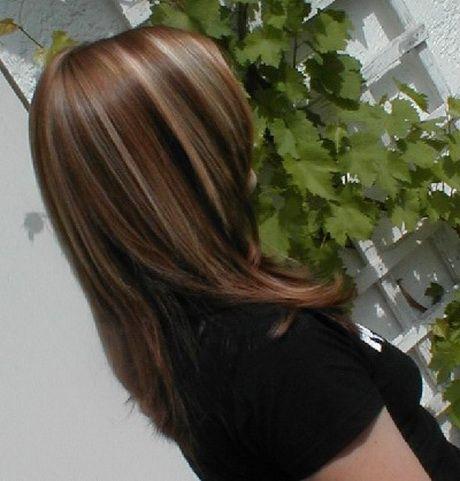 Haare braun mit blonden strähnen