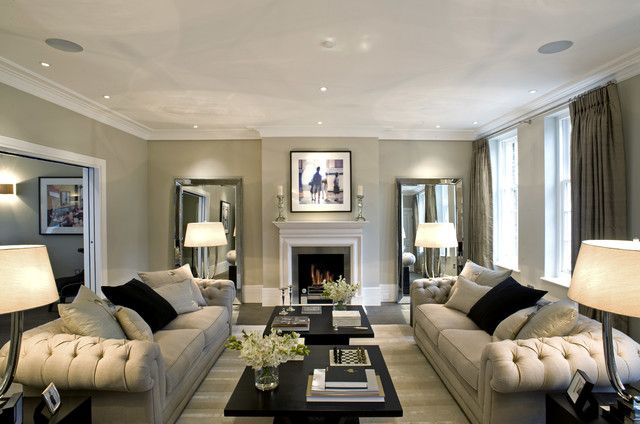 appealing living room decor with grey sofa:good-looking awesome grey living room furnished with grey tufted sofas and black rectangular coffee tables with flowers for natural interior decor gre