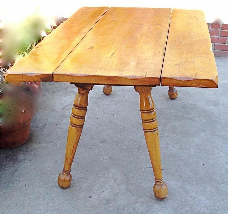 Antique Pine Drop Leaf Kitchen Table