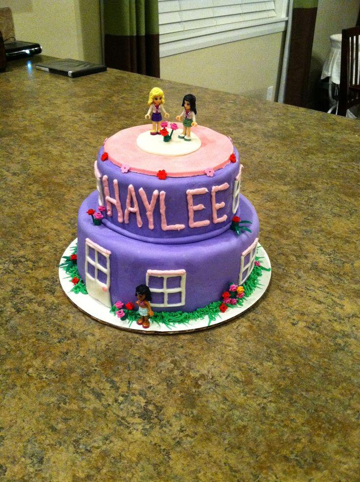 Lego friends cake, fondant, 8 years old