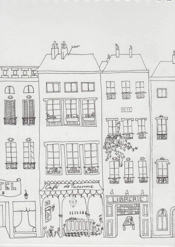 Made up Rue de Turenne, Paris Sketch by Lisa Byström