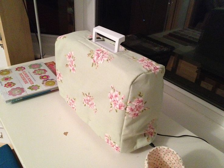 Sewing machine cover all finished looking very fine and cosy