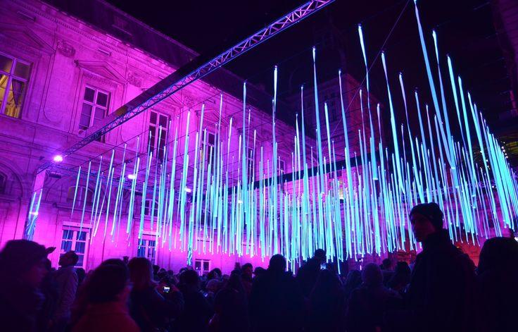 Spectacle dans la cour de l'Hôtel de Ville lors de la fête des lumières 2016 à Lyon.  - C. Girardon / 20 Minutes
