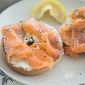 Goats Cheese And Smoked Salmon Bagels eatingwithkatie