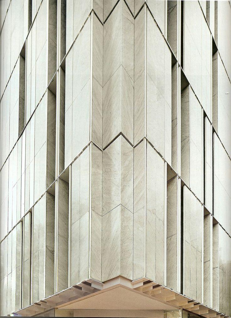 "Exterior stone louvers on ""Stone Block Building"" by Alberto de Souza Oliveira [080] | filt3rs"