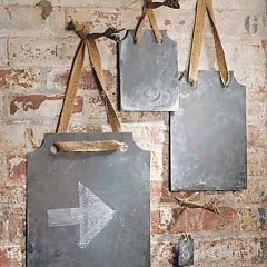 #Chalkboard: Zinc Rectangles, Decor, Ideas, Ribbons, Chalkboard Paint, Chalk Board, Chalkboard Idea, Zinc Chalkboards