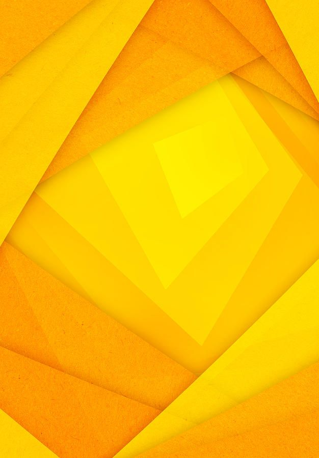 orange and yellow abstract paper background by nattapon