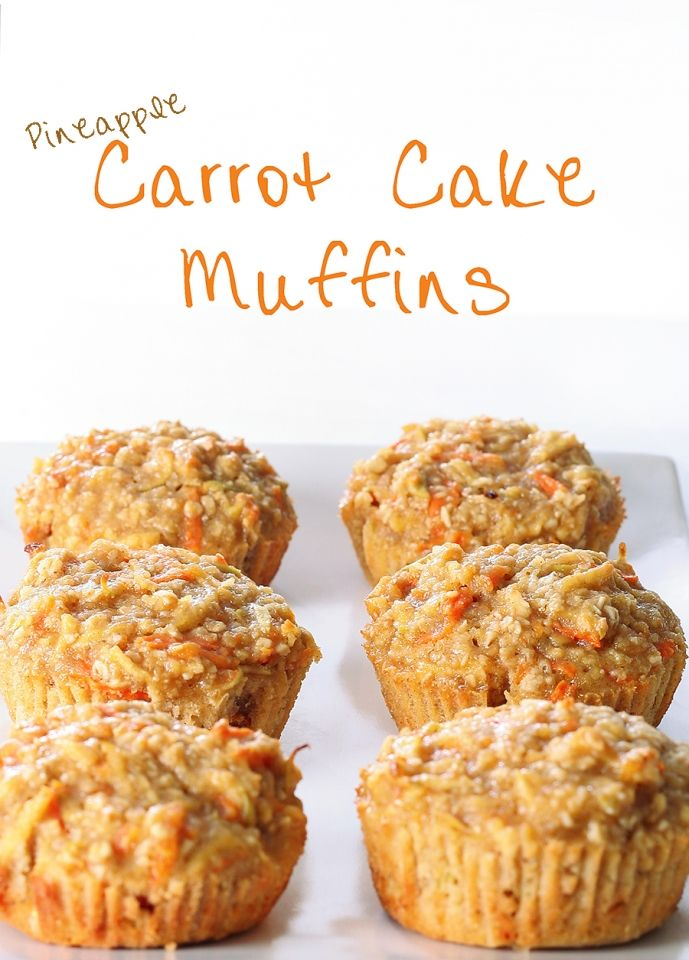 These pineapple carrot cake muffins were easy to make and moist without being too dense. Plenty tasty without frosting, though a cream cheese frosting would probably be a delicious addition.