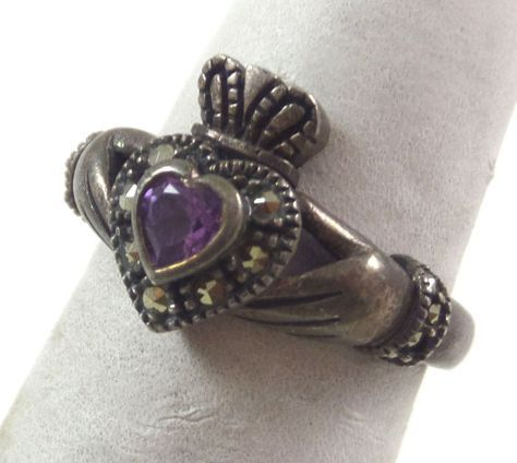 Vintage Claddagh Ring Hands holding Heart by MoonLightArtGallery