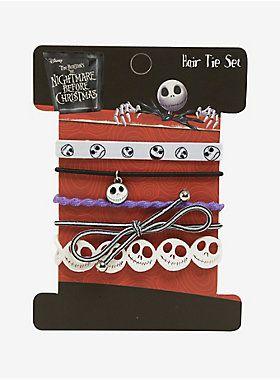Hair-raising ties // The Nightmare Before Christmas Jack Hair Tie Set