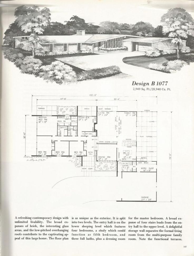 Best 25 mid century ranch ideas on pinterest mid for 1960 ranch house plans