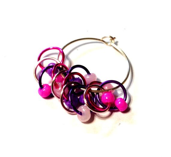 Bubblegum Pop Snagless Stitch Markers by PurpleGoddessDesign, $5.00