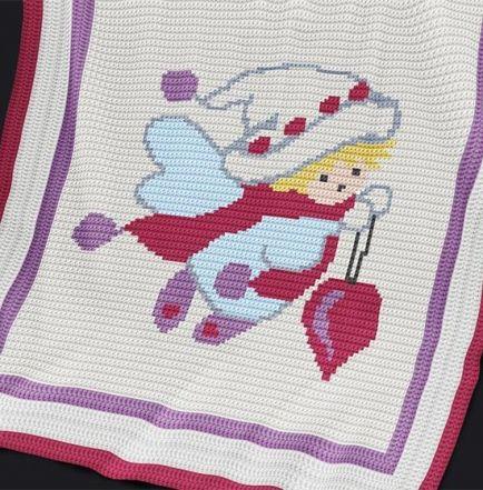Crochet Pattern | Baby Blanket / Afghan - Fairy