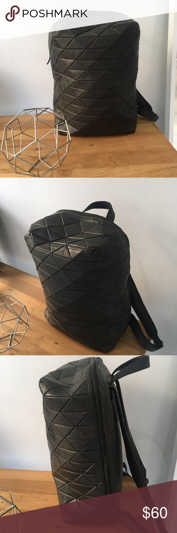 Still Nordic Cubic Brick Backpack Genuine leather backpack, incredible quality at a low price. Adjustable straps with multiple interior organizational pockets. Still Nordic Bags Backpacks