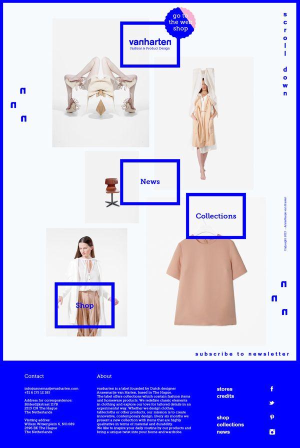 Vanharten by Elisabeth Enthoven, via Behance | See more about behance, product design and web design. http://www.annemarijevanharten.com/