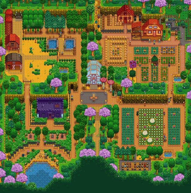 My Year 3 Natural Aesthetic Farm Stardewvalley Farm Layout Stardew Valley Layout Stardew Valley