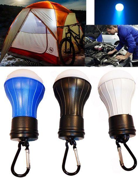Erős fényű, Led-es multifunkcionális lámpa. Jól jöhet sátorozás, túrázás, de akár autószerelés alkalmával is. Tarthatod a kiránduló felszerelésedben, az autódban, vagy a háztartásban is. A villanykörte forma ne tévesszen meg ez nem egy hagyományos izzó, hanem egy szuper erős fényű, elemes Led lámpa.