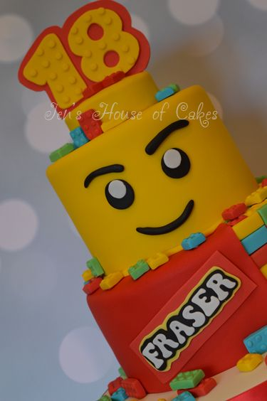 Lego Head & Lego Reveal Birthday Cake