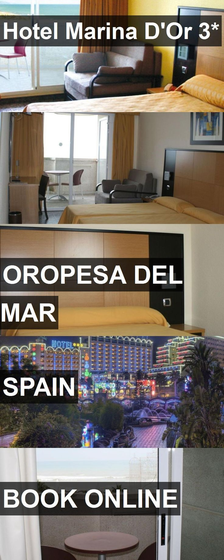 Hotel Marina D'Or 3* in Oropesa del Mar, Spain. For more information, photos, reviews and best prices please follow the link. #Spain #OropesadelMar #travel #vacation #hotel