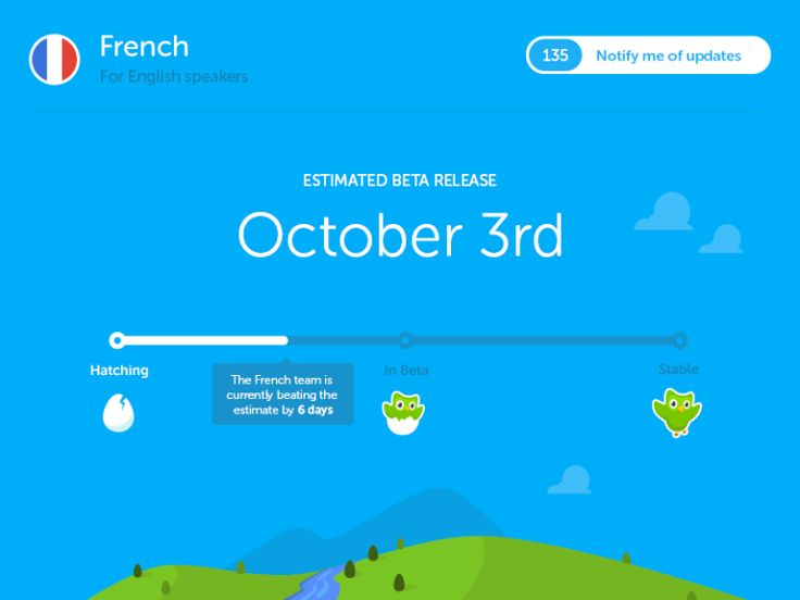 Duolingo. How To Design The Ultimate Coming Soon Page: 20 Awesome Case Studies