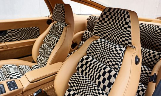 Cool Car Photos early Porsche 928 with Pasha, 'pop art' upholstery.