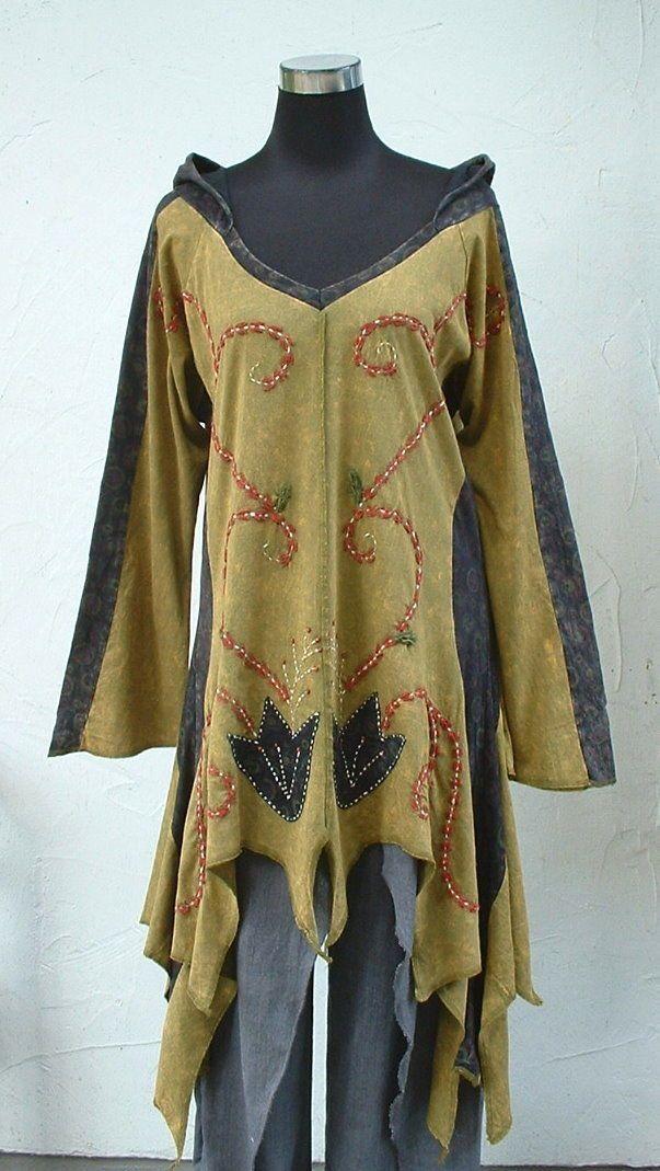 ♥ Zipfelshirt ♥ NEPAL Zipfelkleid ZipfelkapuzeTunika Goa Hippie Ethno Mittelalte | eBay