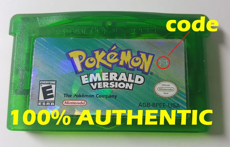 AUTHENTIC Pokemon Emerald Version New Battery Game Boy Advance Mint Condition