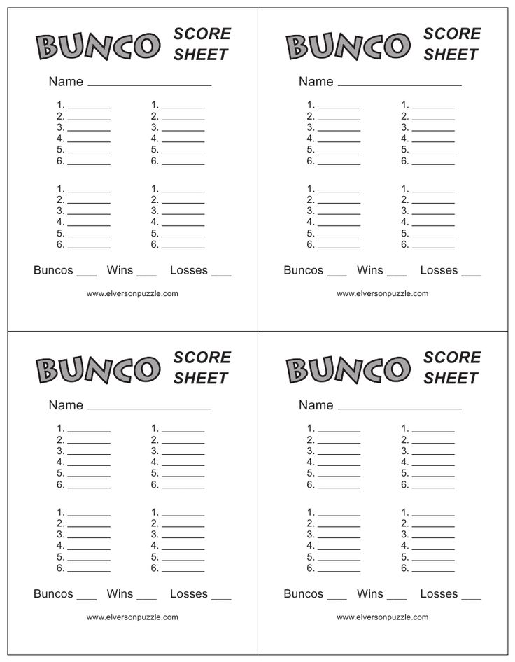 free bunco scorecard template - this is the bunco score sheet download page you can free