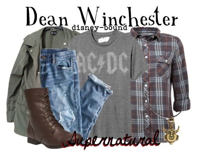 """Dean Winchester"" by disney-bound ❤ liked on Polyvore featuring Topshop, Old Navy, J.Crew and Wet Seal"