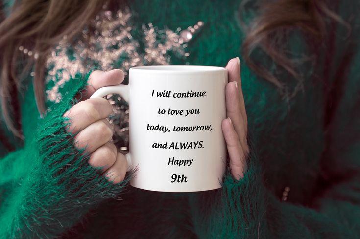 9th anniversary gift for her coffee mug 9th wedding etsy