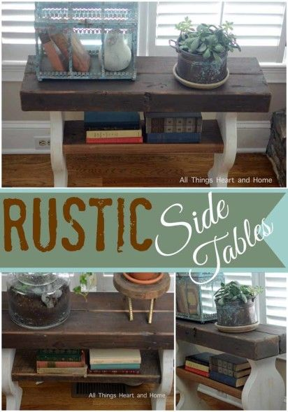 rustic side table ideas tables with drawers canada