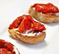 Oven Baked Tomatoes and Brie Crostini | Appetizers, Salads ,Side ...