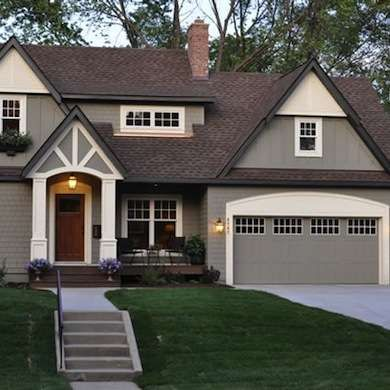 Paint Colors: Benjamin Moore Copley Gray (HC 104) Trimmed With Benjamin  Moore. Exterior House ...